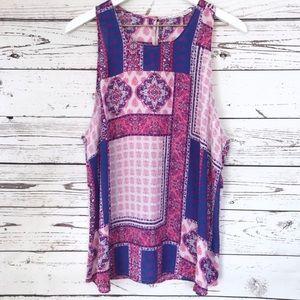 NWOT Violet + Claire pink purple tank blouse XL
